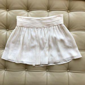 Alice + Olivia chiffon mini skirt - white, size 2